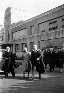 Queen Elizabeth opening our building 1943