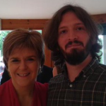 First Minister Nicola Sturgeon with Matt our Digital Inclusion Officer